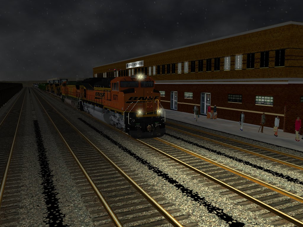 BNSF Freight in the spring - Elvas Tower