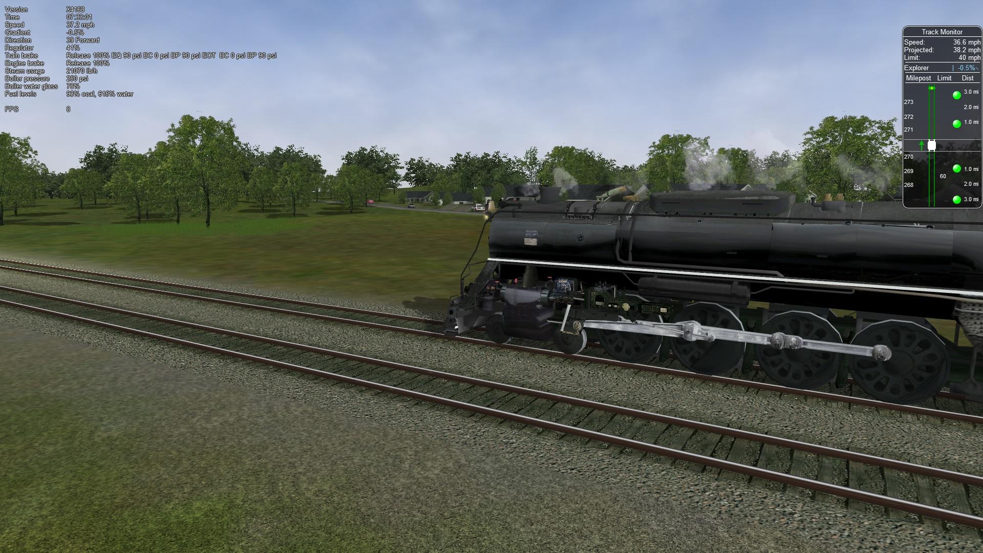 Steam Locomotives in Open Rails - Elvas Tower