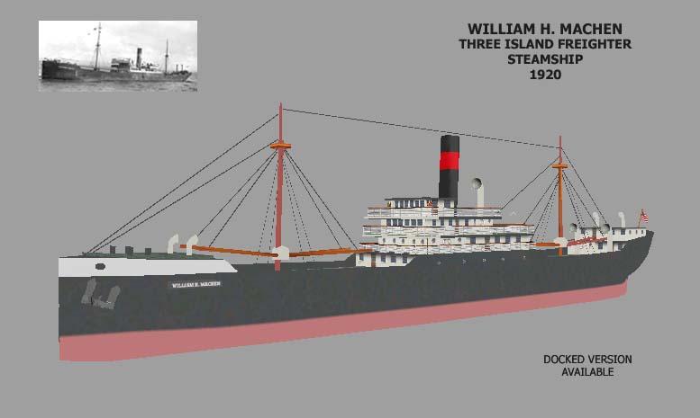 SS WILLIAM H MACHEN MERCHANT SHIP 1920 - Elvas Tower