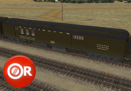 OPEN RAILS CB&Q Heavyweight Baggage and Mail Cars - Elvas Tower