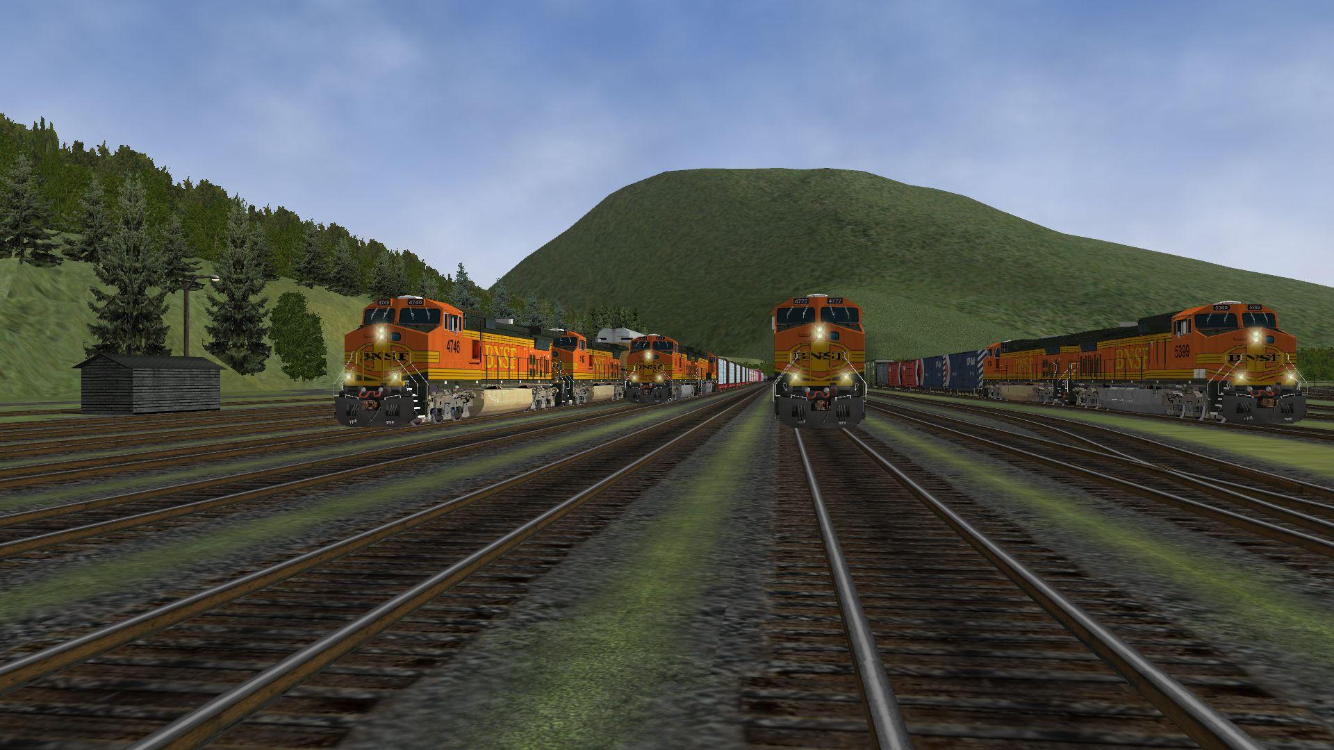 MSTS Diesel Locomotives - HT BNSF DASH9-44CW (C44-9CW